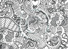 Abstract Coloring Pages For Teenagers Difficult To Print Flowers