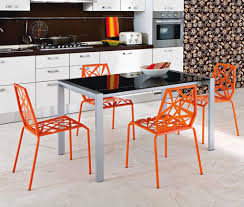Prepossessing Metal Kitchen Chairs Collection A Dining Room