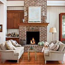 Modern Living Room With Brick Fireplace 4576