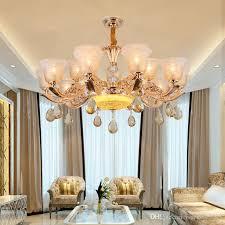 Modern Crystal Chandelier Luxury Large Led Ceiling Lgiht For Living Room Dining New House Hotel Restaurant Lights Lamp