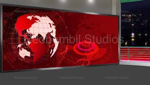 Green Screen Broadcasting Studio News Background Elegant 43 Broadcast Tv Loopable