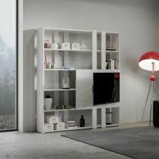 details zu bücherregal mit tv wand kato h aus holz itamoby wohnzimmer büro modern 178x204cm