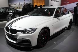 Auto Expo 2014 BMW 320d Sport Line in black racing stripes 3