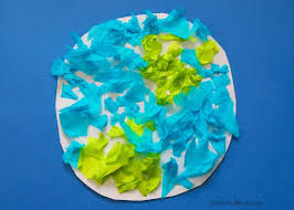 Learn How To Make A Tissue Paper Earth Craft With The Kids