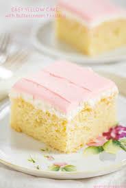 einfacher gelber kuchen mit buttercreme zuckerguss