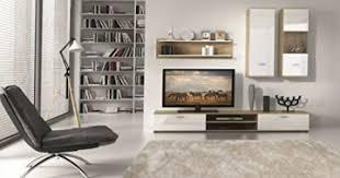 wohnwand sonja weiß sonoma eiche natur wohnzimmerschrank tv wand holzdekor