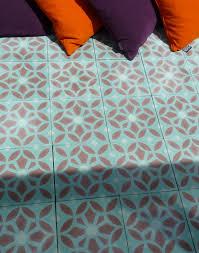 Patterned Vinyl Tile Flooring