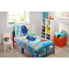 disney finding dory 4 piece toddler bedding set walmart com