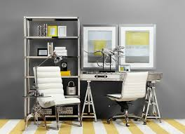 le de bureau jaune design d intérieur deco bureau jaune gris bureau maison de style