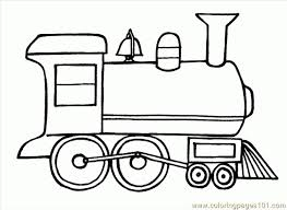 Simple Train Coloring Pages Croke For Incredible Printable To Motivate In
