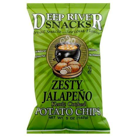 Deep River Snacks Kettle Cooked Potato Chips - Zesty Jalapeno