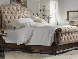 Black Leather Headboard King by King Size Black Leather Bed Frame With High Puffed Head Board