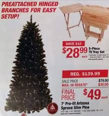 7ft Slim Christmas Tree by Menards Black Friday 7ft Pre Lit Arizona Spruce Slim Pine