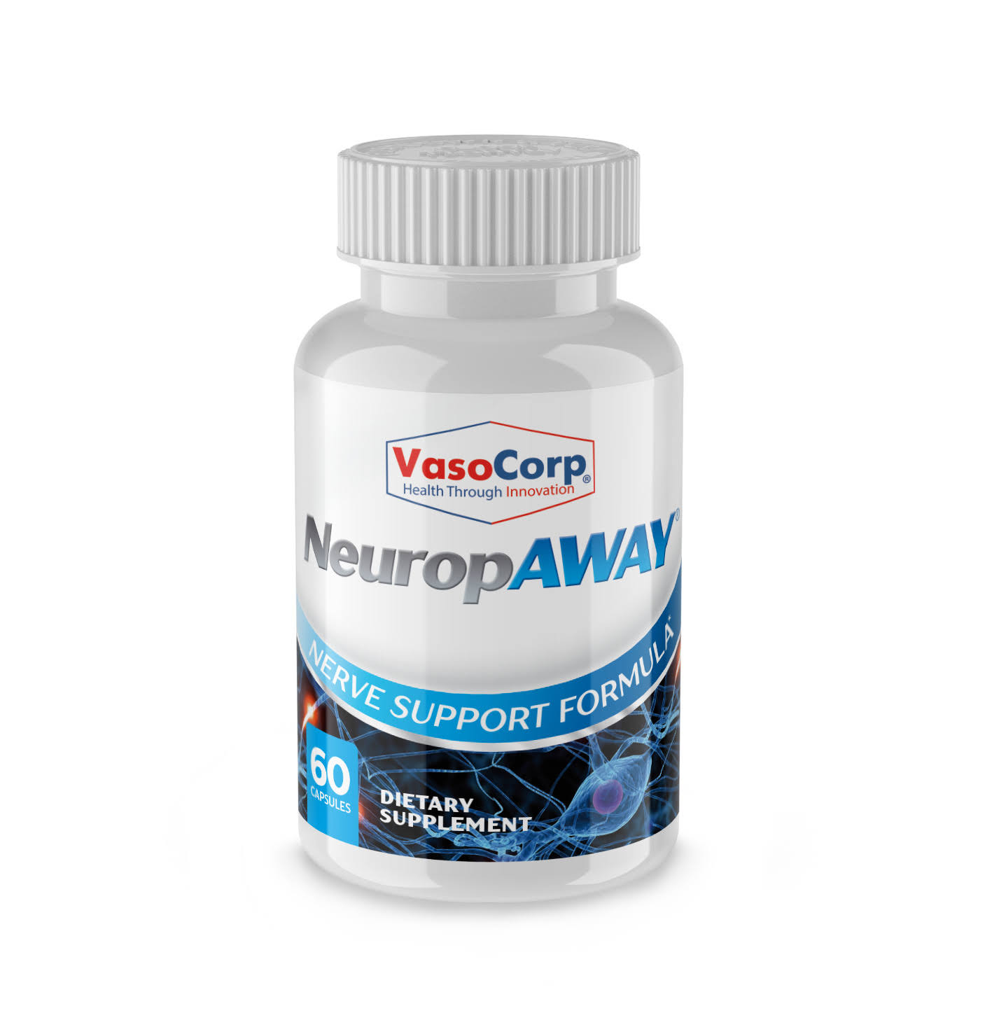 Vasocorp Neuropaway Nerve Support Formula Dietary Supplement - 60 Capsules