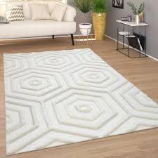 teppich wohnzimmer boho ethno muster geometrisch creme