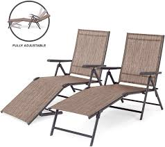 Best Choice Products Set Of 2 Outdoor Adjustable Folding Steel Textiline  Chaise Reclining Lounge Chairs W/ 4 Back & 2 Leg Positions, Brown Amazoncom Wnew 3 Pcs Patio Fniture Outdoor Lounge Stark Item Chaise Chair Brown Festival 2pcs Patiorama Adjustable Pool Rattan With Cushion Espresso Pe Wickersteel Frame Christopher Knight Home 80x275 Green Pads For Chairs Set Of 2 Gojooasis Recliner Styles Biscayne Huyya Lounges Sun Outmax Wicker Folding Back Footrest Durable Easy Carry Poolside Garden 14th Mobility Armrest Chair Staggering Medium Pc