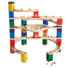 Hape Kitchen Set Uk by Hape Kids Wooden Loop De Loop Marble Run Block Play Set Speedway