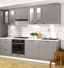 landhausküche lora küchenzeile 240 cm 8 tlg landhausstil