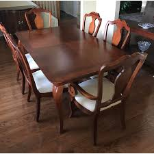Thomasville Dining Table Chairs W Leaves Chairish Inside Sets Prepare 2 On