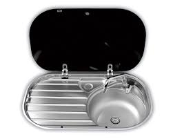 Coleman Portable Sink Uk by Smev Sink U0026 Drainer With Glass Lid 8306 Grasshopper Leisure