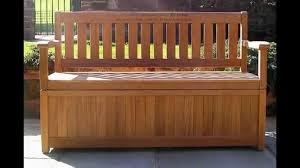 wood outdoor storage bench waterproof great outdoor storage