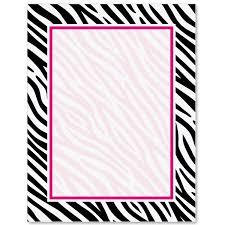 Zebra Print Border Papers Paparazzi Pinterest Borders For