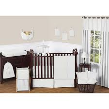 sweet jojo designs minky dot crib bedding collection in white
