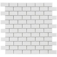 Home Depot Merola Penny Tile by Merola Tile Metro Subway Glossy White 11 3 4 In X 11 3 4 In X 5