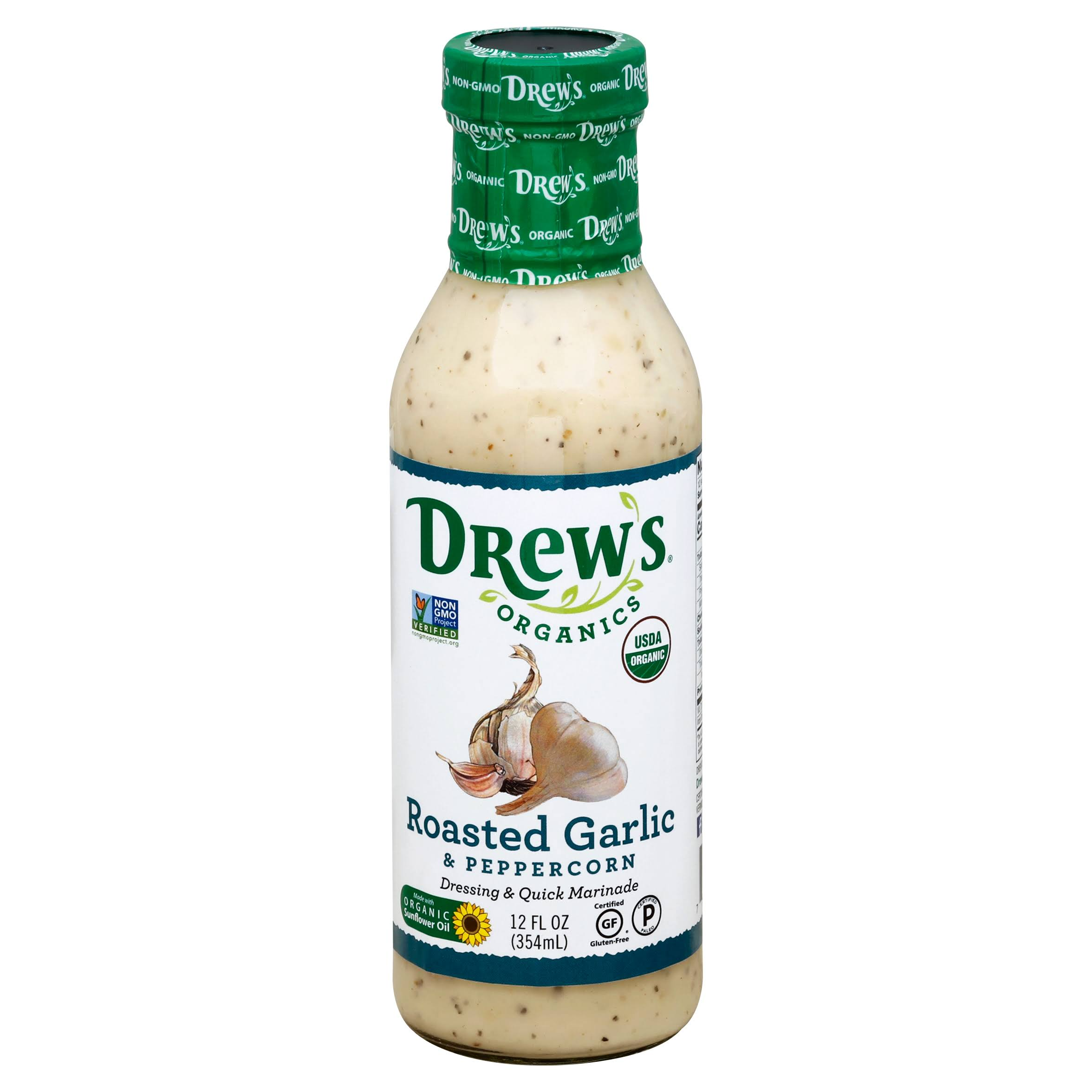 Drews All Natural Roasted Garlic & Peppercorn Dressing