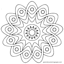 Mandala Coloring Page Star Shield