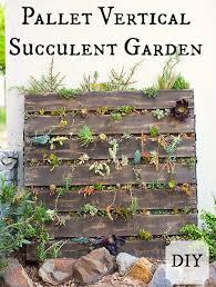 Pallet Vertical Succulent Garden Flowers Gardening Repurposing Upcycling Succulents