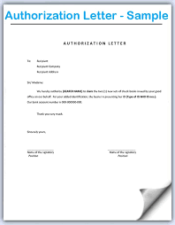 Sample of authorization letter consent format interestingpage