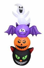 Halloween Airblown Inflatables Uk by Halloween Air Blown Inflatable Yard Decoration Totem Pole Cat