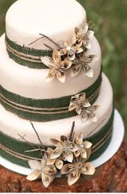 Cake With DIY Book Page Flowers Rustic Wedding