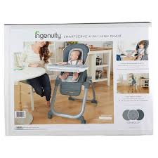 Details About Ingenuity 4-in-1 SmartServe Baby High Chair/Booster/Tray  F/Toddler/Kids Connolly