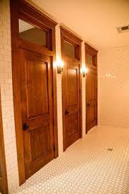 Bathroom Stall Dividers Edmonton by Bathroom Stalls With Wood Doors Floor Tile Same Style We U0027ll Have