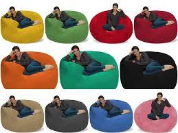 Love Sac Adult Kids Bean Bag Chair Fuf Chill Sack Giant 5' Foam Media  Lounger