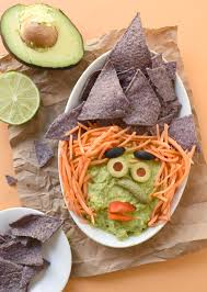Pumpkin Guacamole Throw Up Cheese by Halloween Guacamonsters Fork And Beans