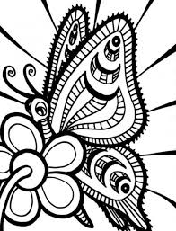 Printable Butterfly And Flower Coloring Pages For Kids