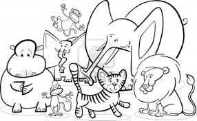Zoo Animals Coloring Pages For Preschool Archives With Animal