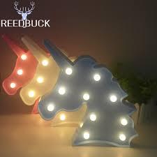 2017 hote sale unicorn led light desk table wall lights