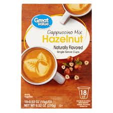 Green Mountain Pumpkin Spice K Cups Caffeine by Great Value Hazelnut Cappuccino Mix Naturally Flavored Single