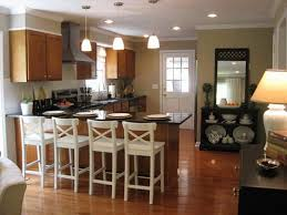 beautiful small kitchen makeovers with white chairs and track
