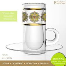 Creative Wholesale Coffee Cups Handmade Borosilicate Glass Turkish Cup