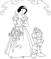 Disney Princess Snow White Coloring Pages For Kids