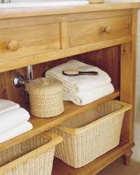 ideen für aufbewahrung korb ablage schrank badezimmer