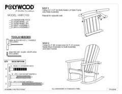 Polywood Seashell Adirondack Rocking Chair by Polywood St Croix Patio Adirondack Rocker Exclusively At Target