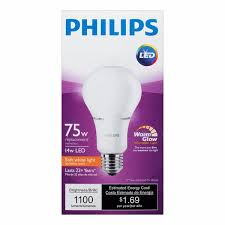 philips 75w eqv soft white a21 led 6 pack comed marketplace