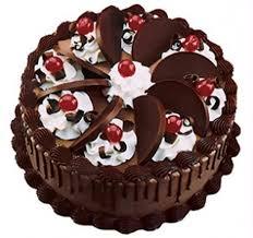 beautiful chocolate happy birthday cake poster