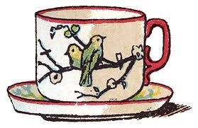 Victorian Image Sweet Teacup With Birds